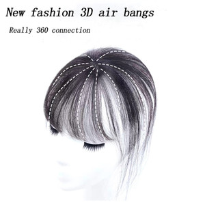 3D Bangs Invisible Seamless Head Hair Short Clip falso en Bangs Women BB Clip Hair Pieces Accesorios para el cabello