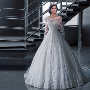 Wedding Dresses Long Sleeves Lace Shoulders Ap Dresses Low-Cut Blouses Breast-wiping pure-color fishtail fluffy skirt for women Balls Outfit