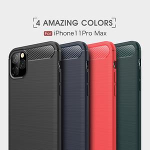 Karbon Fiber Durumda Samsung A20S Iphone 12 Pro Max TPU Kauçuk Telefon Kapak Için iPhone 11 Koruyucu Kılıf