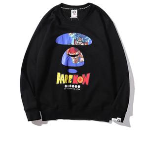 Mens Designer Hoodie Felpa girocollo AAPE lusso Dragon Ball Joint sottile maglione di cotone Lettera Terry di marca della stampa Felpa Hip Hop
