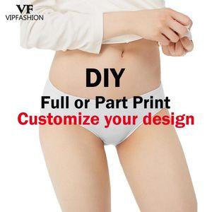 VIP FASHION DIY Custom Pretty 3D Print Push Up Underwear Women Sexy Panties Briefs Panties lingerie Ladies Briefs 1 Pieces