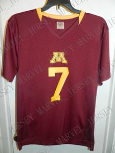 ordinazione poco costoso Minnesota Golden Gophers New College Football Maglia personalizzata Qualsiasi numero nome cucito Jersey XS-5XL