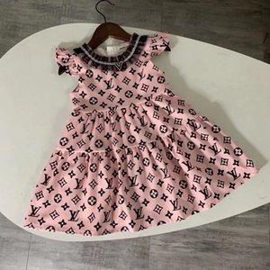 Kız Marka Elbise Yüksek Kalite Yaz Bebek Kız Giyim Bir Çizgi Kız Giydirme Prenses Giydirme vestidos Ücretsiz Kargo
