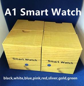 A1 Smartwatch Bluetooth Smart SIM Card TF de soutien intelligent Montres Bracelet en silicone Smartphone avec Forfait
