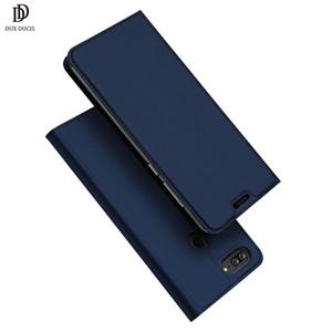 vente en gros Honor 9 Lite Case DUX DUCIS luxe en cuir PU Flip Wallet Case Cover sur pour Huawei Honor 9 Lite 9Lite Stand Coque Bleu