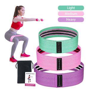 Bandas de resistência de 3 peças Bandas Set aptidão borracha Expander elástico para fitness Elastic Resistance Exercise Equipment