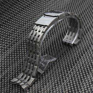 22mm 24mm Lucidatura + cinturini per cinturini con cinturino in argento satinato per orologio Breitling
