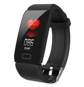 "Inteligente Pulseira Q1 de Fitness Rastreador Heart Rate Sangue sono Pressure Monitoring 1,14"" IPS impermeável relógio inteligente pedômetro para iPhone Android"