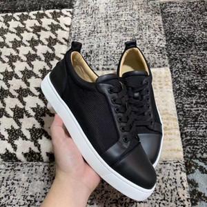 Pas cher de luxe en nylon cuir pour hommes Casual Flat, élégant Marque Bas Rouge Chaussures Sneakers, Perfect Lover Femmes Casual marche EU35-47