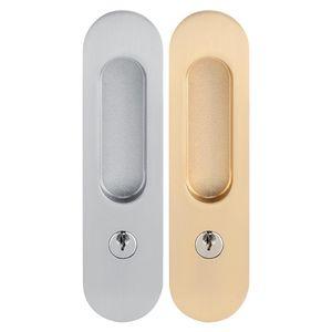 Sliding Anti-theft Latch Lock for Barn Hidden Handle Interior Pull Locks Wood Door Furniture Hardware Y200407