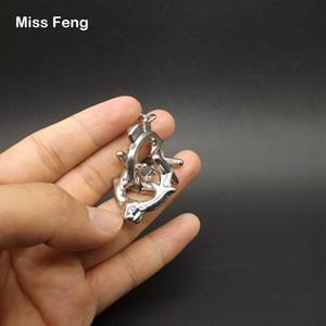 H221-Ox / с кольцом для ключей таинственный замок Серебряный металл бык головоломка IQ литой гаджет взрослых детей игрушки