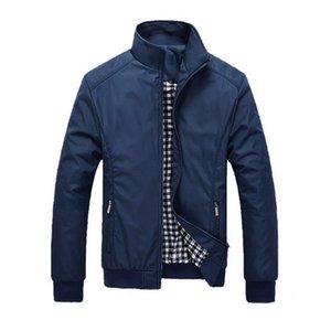 Мужчины Плюс Размер 5XL Solid Color Классические куртки мужчины весна осень мужские Ветровки Куртки Повседневный Business