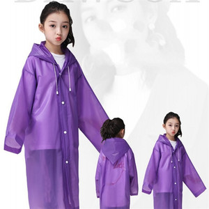 Kid con cappuccio cappotti di pioggia Eva trasparente impermeabile monopetto Viaggiare Must Poncho Raincoat emergenza rainwears non monouso 4cj E19