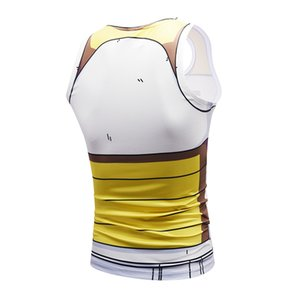 Wholesale-Summer new anime Vegeta 3D printing vest student youth muscle vest shoulder costume adult anime cosplay