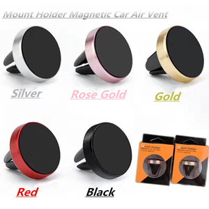 Car Mount Phone Holder Air Vent Magnetic Universal Car Mount cell phone holder One Step Mounting Reinforced Magnet Easier Safer Driving DHL