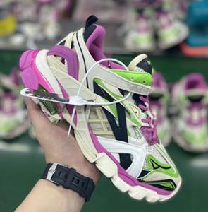 Дорожка.2 Sneaker Desginer Shoe Fluo Зеленый Фиолетовый Синий Белый Резиновая Подошва Мужская Обувь Женщины Кроссовки Triple-S Повседневная Обувь Старинные Роскошные Унисекс