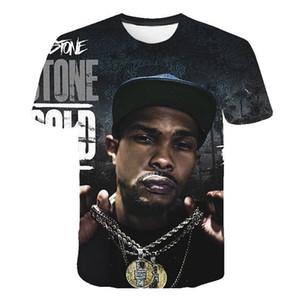 남자 2020 남성 여름 짧은 소매 탑에 대한 닙시 허슬 티셔츠 3D 디자이너 HIPHOP RIP 캐주얼 티셔츠