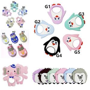 Bébé molaire silicone bâton Toy Cartoon Tétines silicone alimentaire bébé tout-petits animaux Sucettes formation molaire soins dentaires durables Molar toyes