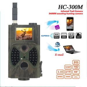 선텍 HC300M 사냥 카메라 GSM 12MP 1080P 사진 트랩 나이트 비전 야생 동물 사냥 트레일 카메라 사냥 샤쓰 스카우트 적외선