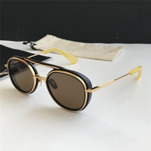 Los hombres de la nave espacial Negro / Amarillo Oro piloto gafas de sol Sonnenbrille OCchiali da únicas gafas para hombre de las gafas de sol con la caja