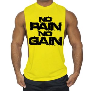 Muscular chicos Marca stringer Culturismo Tank Top para hombre de Fitness camiseta sin mangas de algodón Ropa gimnasios GYM VEST