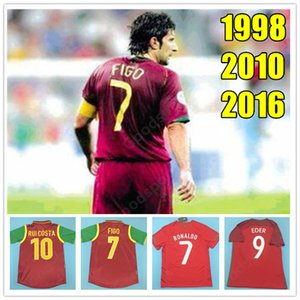 Retro Portugal 98 02 soccer Jerseys HOT FIGO RONALDO nani F.COENTRAO 04 10 CARVALHO J.MOUTINHO FOOTBALL SHIRTS Deco PEPE QUARESMA RUI COSTA