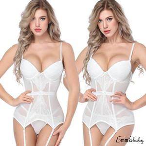 2019 Beyaz Lingerie Kadın Dantel Sexy-Lingerie Gecelikler İç G-String Babydoll Pijama Elbise