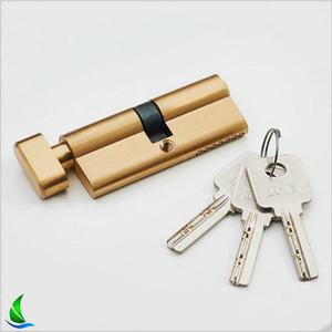 LL004 Golden Color Bedroom door lock core pure copper anti-theft lock core anti-riot violence unlock indoor wooden door lock core wholesale