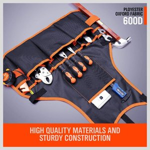 Work Apron Tool 16 Pockets Belt Adjustable Vest For Mans And Women With Waterproof Ap Other Housekeeping Organization