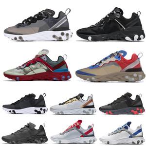 react elment 55 87 Çöl Kum Kraliyet Tonu Koşu Ayakkabıları Erkekler Kadınlar Için 55 s Antrasit Trainer 87 s Spor Sneakers boyutu 36-45