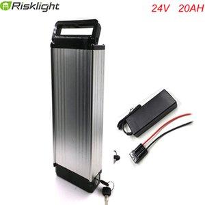 Parrilla trasera 24V 20Ah eBike batería de litio de 24V 250W 18650 con el cargador 2A Marca BMS Caja de aleación de aluminio