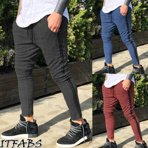 Nuove arrivi Mens dei pantaloni di inverno Lattice Sweatpants Moda jogging movimento pantaloni casuale più Outfits Dimensione