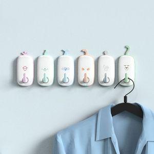 Cartoon Wall Hooks Multi-purpose Self Adhesive Home Kitchen Door Hook Hanger Coat Key Holder Bathroom Storage Rack Organization