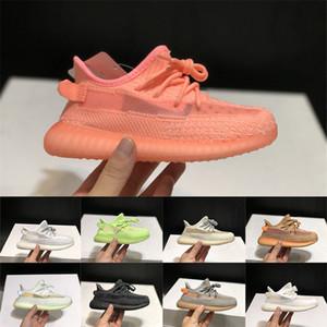 Big Kids Chaussures enfants Garçons filles Baskets Sneakers Kanye Gid Glow Clay Lundmark Youth Synth Noir réfléchissant statique pour enfants Chaussures de course