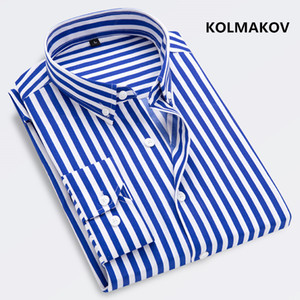2020 new arrival spring stirped casual shirts men,men's striped shirts,Long sleeves shirts men plus-size S-5XL