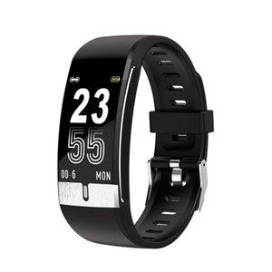 E66 intelligente del corpo della vigilanza della temperatura ECG PPG cardiaca pressione sanguigna / ossigeno Fitness Tracker Bracciale intelligente banda Uomini Donne