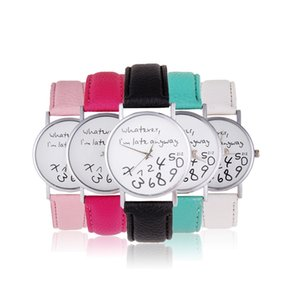 2018 Women's fashion watches Casual Quartz Watch Wrist Watch Jewlery Watches Thanks giving(9 color 2dial)