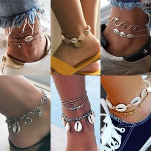 Cavigliere del pendente della stella marina di Shell per le nuove perle di pietra Cavigliera della boemia dei cavigliere sulla collana di goccia dei monili dell'oceano di Boho della gamba