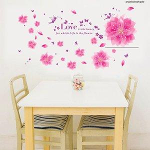 Стена Peach 8013abc наклейки Изящные Элегантный Blossom цветок стены наклейки мебель виниловые наклейки Романтическое украшение номера