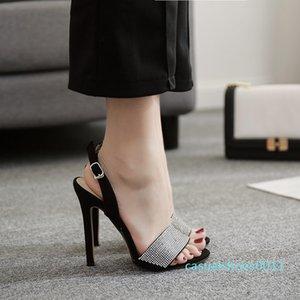 Fashion2019 A Estilo Verão Uma Traga Luxurious Rhinestone bem com Sandals Sim Do 40 c11