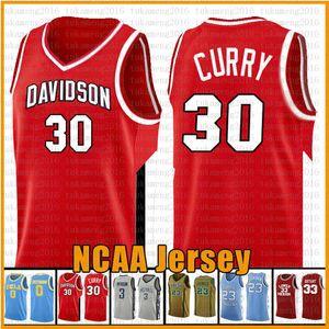 Red Stephen 30 Curry Ncaa Davidson Wildcat College Basketball Jersey 3 Wade Richards Marquette Golden Eagles 23 2 Leonard 11 Irving