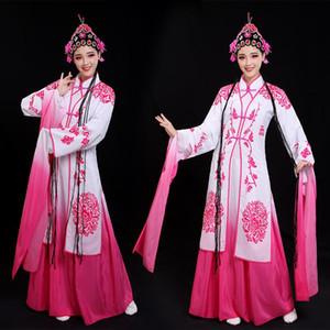 Klassische Peking-Opernstadiumsabnutzungs-Steigungsfarben-lange Hülsen tanzen Kostüm-Karneval Hanfu alte Drama-Leistungskleidung für Frau