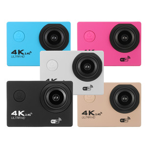"Pvflymk F60R Ultra HD 4K /30fps WiFi Action Camera 2.0 "" 170D go Helmet Camera pro underwater water secure Multi Color Sport Camera"