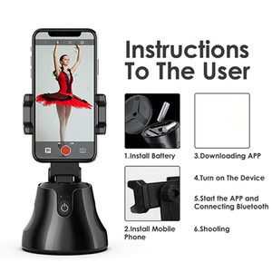 360 Degree Rotation Auto Face&Object Tracking Smart Shooting Camera Phone Mount Vlog Shooting Smartphone Holder For All Phone