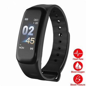 C1 Plus Bluetooth Smart Bracelet Color Screen C1S Wristband Heart Rate Monitor Blood Pressure Measurement Fitness Tracker