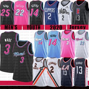 Kawhi 2 Dwyane Wade 3 Leonard Paul 13 George Basketbol Jersey LA Miami Clippers Isı Jimmy 22 Butler Tyler Los Herro Kendrick Angeles Nunn
