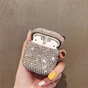 Luxe 3D Diamonds Bling mignon pour Apple AirPod 2 1 Sac de protection Charging écouteurs sans fil Bluetooth Housse pour AIRPOD Cas filles