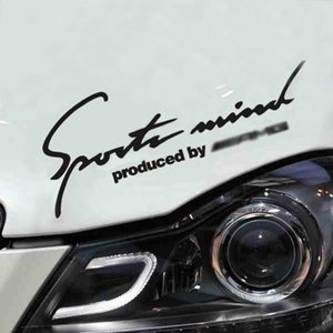 Autocollant de voiture de sport Decal esprit lumières réfléchissantes Vinyle 2 couleurs 32cm pour Mercedes AMG Bz Auto Tuning Car Styling Accessoires
