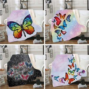 XC USHIO Winter Butterfly Blanket Adults Kids Warm Fluffy Throw Blankets For Sofa Bed Cover Game Christmas Fleece Blanket