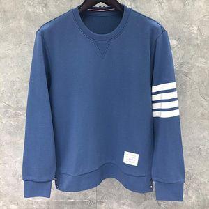 2020 Mode TB THOM Printemps Vêtements décontractés Coton Veste Homme Femme Sweat O-Neck lâche manteau rayé sport